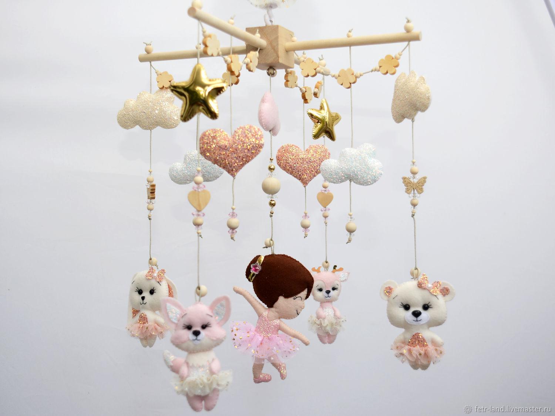 """Мобиль на кроватку """"Балерины лесные животные"""", Мобили на кроватку, Белгород,  Фото №1"""