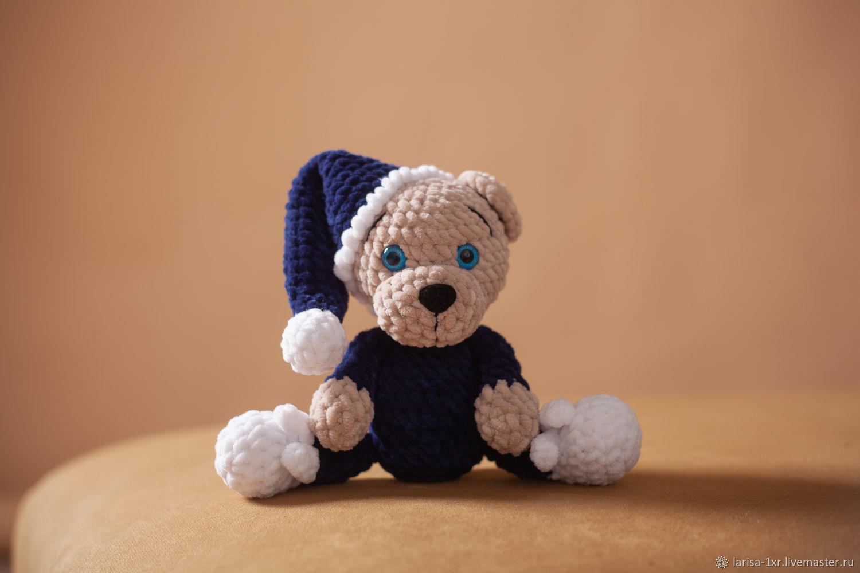 Сонный вязаный мишка. Мини-версия, Мягкие игрушки, Кострома,  Фото №1