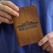Сувениры и подарки ручной работы. Ярмарка Мастеров - ручная работа Обложка на паспорт World of Tanks. Handmade.