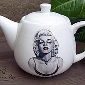"""Посуда ручной работы. Ярмарка Мастеров - ручная работа Заварочный чайник """"Мерилин Монро"""". Handmade."""