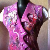 """Одежда ручной работы. Ярмарка Мастеров - ручная работа Жилет """"Брусничный  шик"""". Handmade."""