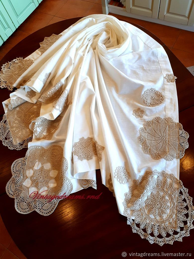 Tablecloth with lace, Tablecloths, Rostov-on-Don,  Фото №1