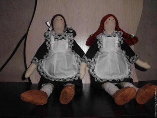 Куклы Тильды ручной работы. Ярмарка Мастеров - ручная работа. Купить Школьницы. Handmade. Коричневый, кукла текстильная, бязь хлопок