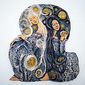 """Картины и панно ручной работы. Ярмарка Мастеров - ручная работа Декоративное панно """"День-Ночь"""". Handmade."""