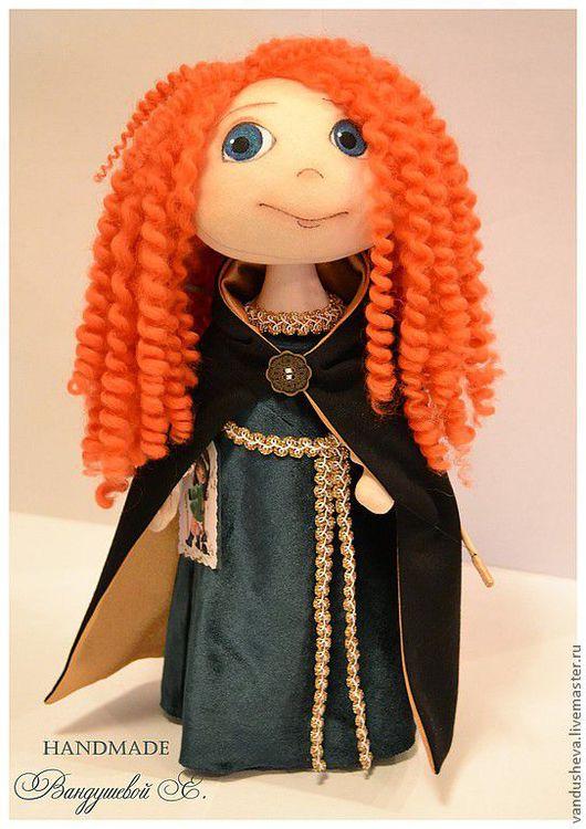 """Человечки ручной работы. Ярмарка Мастеров - ручная работа. Купить Текстильная кукла """"Принцесса Мерида. Храбрая сердцем."""". Handmade."""