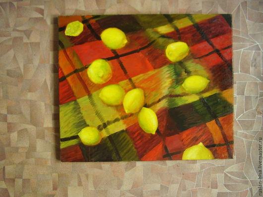 Символизм ручной работы. Ярмарка Мастеров - ручная работа. Купить Лимоны. Handmade. Желтый, картина, картина в подарок, купить подарок