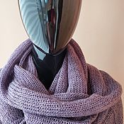 Аксессуары handmade. Livemaster - original item Snood: mohair Snood in two turns plum. Handmade.