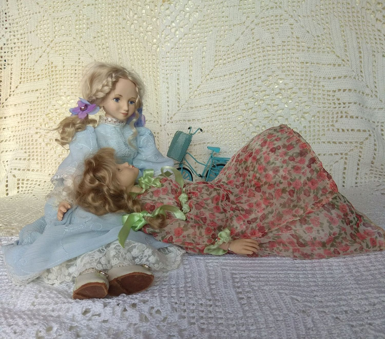 Куколки из фарфора, цена за одну куколку, Шарнирная кукла, Каменка,  Фото №1