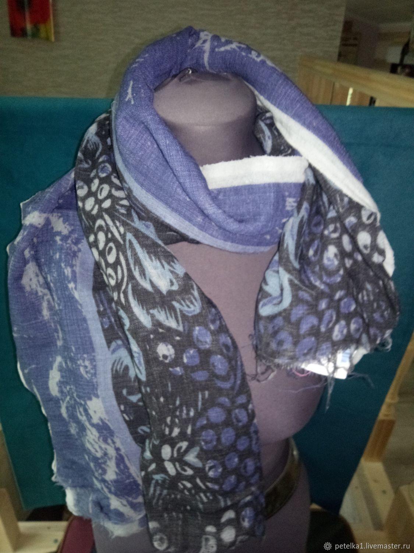Scarves made of thin wool Pavlov Posad, Scarves, Astrakhan,  Фото №1