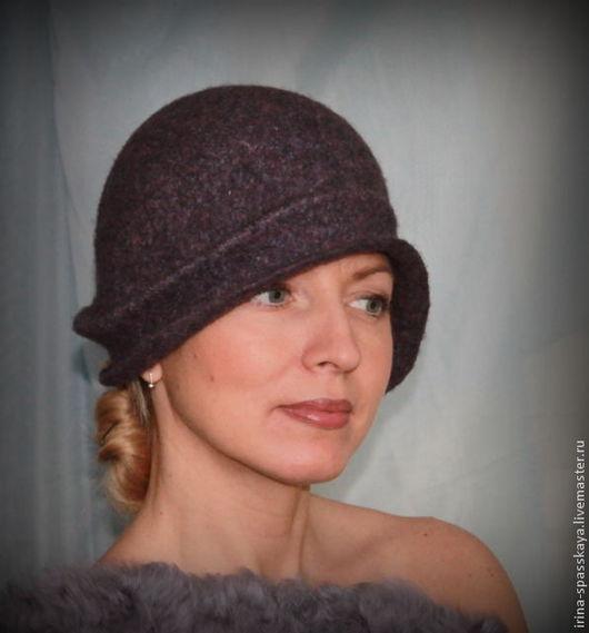 """Шляпы ручной работы. Ярмарка Мастеров - ручная работа. Купить Дамская шляпка-клош """"Ночная мелодия флейты"""". Handmade. Валяние"""