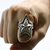 Украшения handmade. Livemaster - original item Ring dimensionless Star from silver 925 unisex. Handmade.