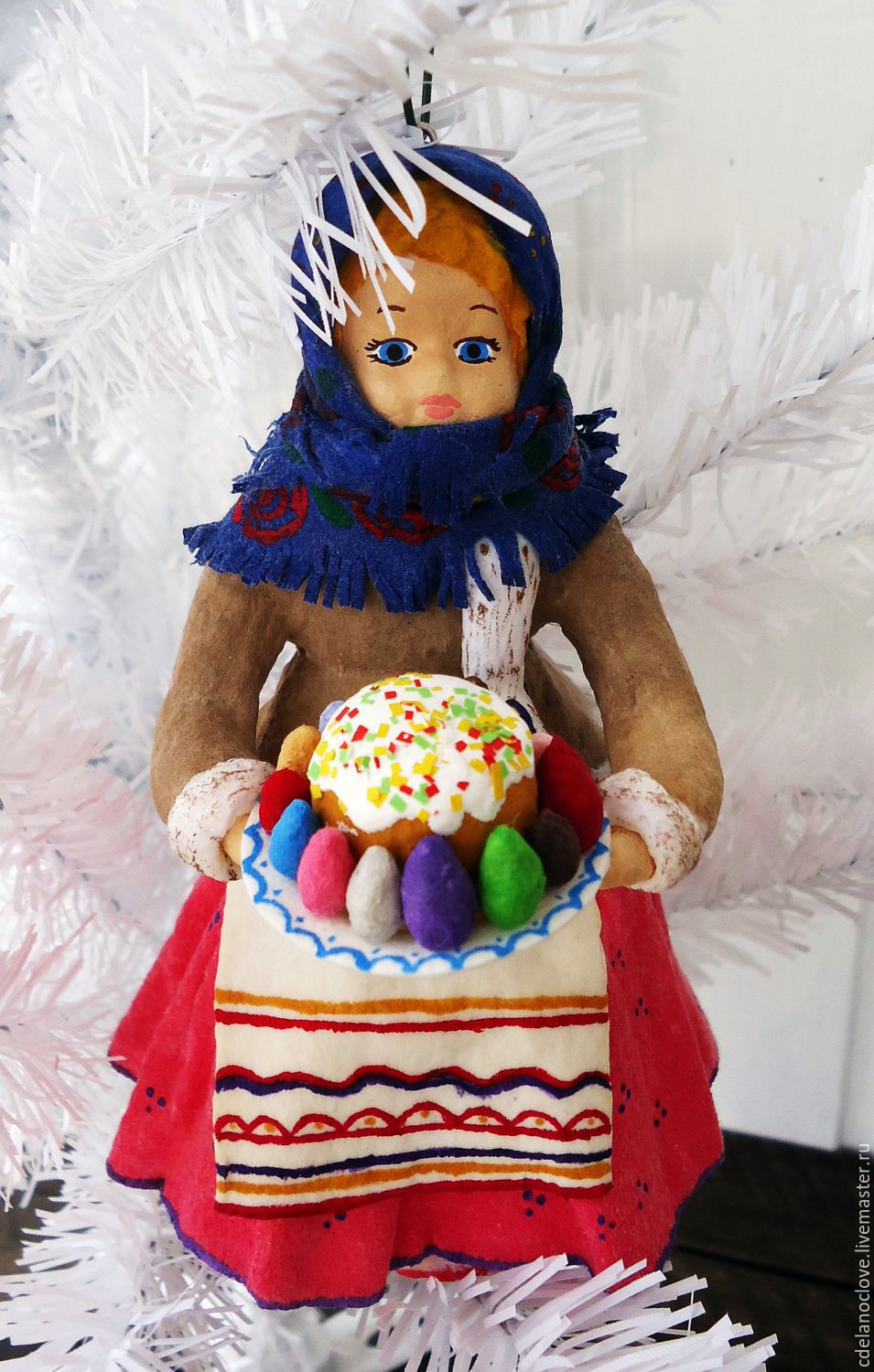 Buy quilted christmas tree decoration girl with cake on easter gifts handmade quilted christmas tree decoration girl with cake svoimirukamishop negle Gallery