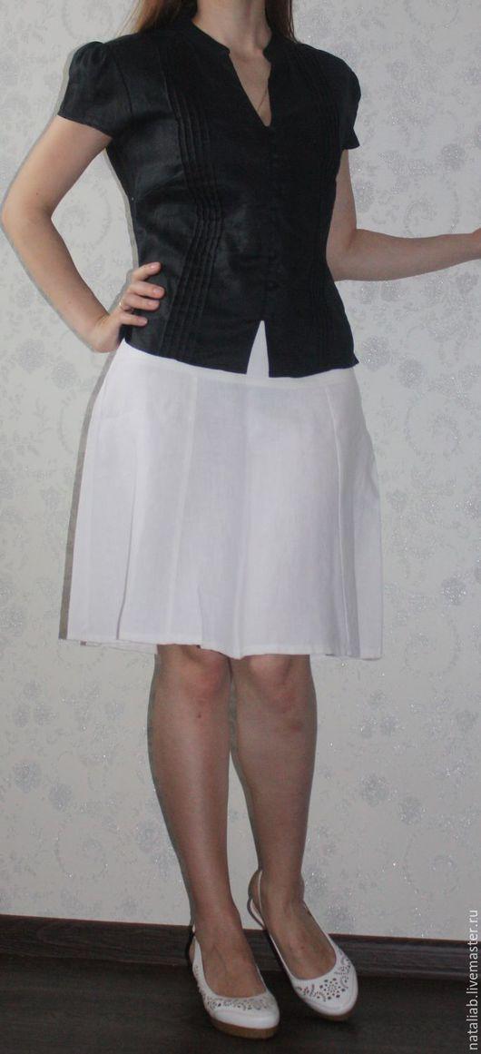 """Блузки ручной работы. Ярмарка Мастеров - ручная работа. Купить Льняная блузка """"Black"""". Handmade. Черный, блузка женская"""