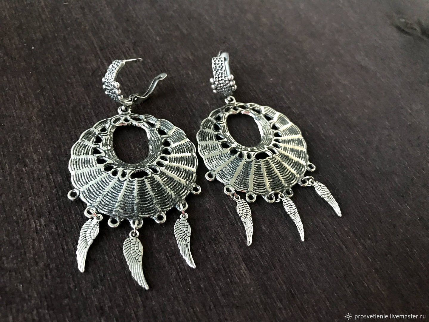 b2e25fdfe Pendants handmade. Livemaster - handmade. Buy Large earrings in silver.  Stylish jewelry handmade · Decoration ...