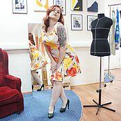 Одежда ручной работы. Ярмарка Мастеров - ручная работа Маленькое яркое платье. Handmade.