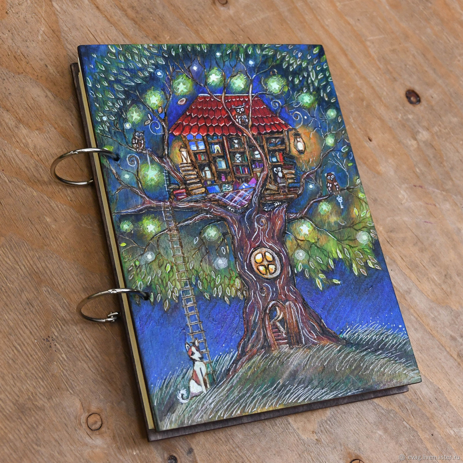 """Copy of Notepad wood cover A5 """"On the tree"""", Notebooks, Moscow,  Фото №1"""