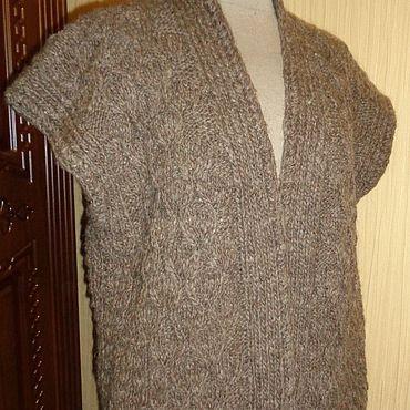 Одежда ручной работы. Ярмарка Мастеров - ручная работа Кардиган из натуральной шерсти. Handmade.