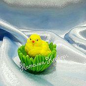 """Косметика ручной работы. Ярмарка Мастеров - ручная работа Мыло """"Цыпленок в травке """". Handmade."""