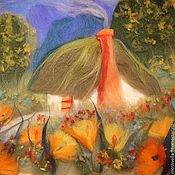 """Картины и панно ручной работы. Ярмарка Мастеров - ручная работа """"Дом Гнома"""" 3-D из шерсти. Handmade."""