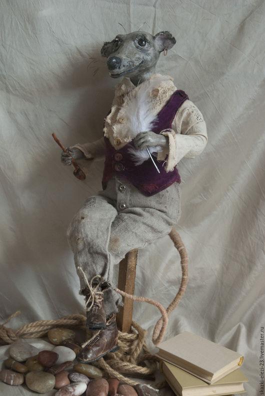 Авторская кукла мистер  Бартоломью . Пират. Писатель. Подарок.Трубка. Крыса.Handmade. Ярмарка мастеров - ручная работа. Коллекционная кукла. Интерьерное украшение.   Авторская ручная работа. Купить.