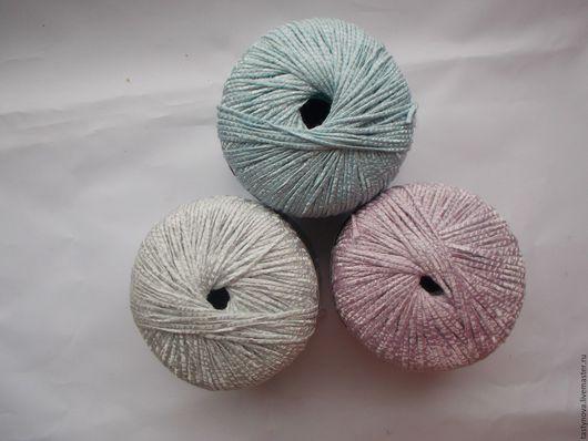 Вязание ручной работы. Ярмарка Мастеров - ручная работа. Купить Ленточная нарядная пряжа,пастельные оттенки. Handmade. Пряжа