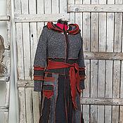 Одежда ручной работы. Ярмарка Мастеров - ручная работа Серый с медьюй шерстяной свитер NS-1. Handmade.