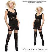 Одежда handmade. Livemaster - original item Knit dress from Olga Lace.. Handmade.