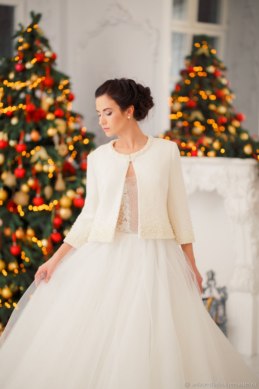 Свадебное Пальто Белое Женское Пальто «Злата Крем», Накидки, Москва,  Фото №1