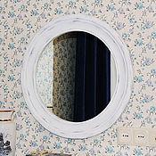 Для дома и интерьера ручной работы. Ярмарка Мастеров - ручная работа Зеркало в деревянной раме, стиль прованс. Z19.. Handmade.