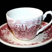 Винтаж handmade. Livemaster - original item Coffee vintage pair of Staffordshire porcelain, England. Handmade.