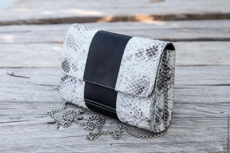 Clutch Python with chain . Handbag made of Python, Clutches, Chelyabinsk,  Фото №1