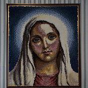 Картины и панно ручной работы. Ярмарка Мастеров - ручная работа Пречистая Дева Мария. Handmade.
