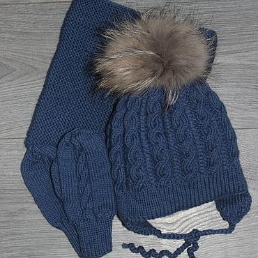 Works for children handmade. Livemaster - original item Knitted winter set. Handmade.