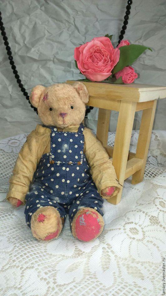 Мишки Тедди ручной работы. Ярмарка Мастеров - ручная работа. Купить Мишка Тедди Федя. Handmade. Бежевый, плюш винтажный