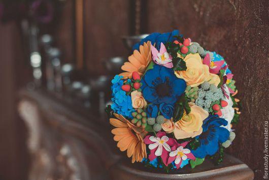 Свадебные цветы ручной работы. Ярмарка Мастеров - ручная работа. Купить Свадебный букет невесты из полимерной глины. Handmade.