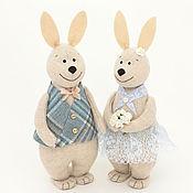 Мягкие игрушки ручной работы. Ярмарка Мастеров - ручная работа Кролики на свидании - романтический подарок девушке. Handmade.