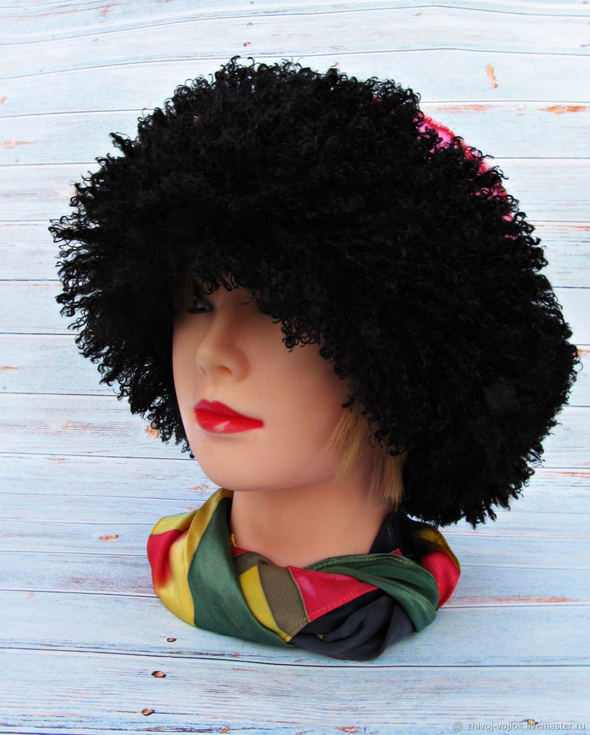 Caps: Exclusive felted hat decorated with beaded embroidery, Hats1, Tomsk,  Фото №1