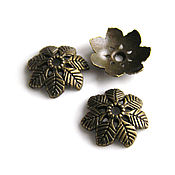 Материалы для творчества handmade. Livemaster - original item Cap beads bronze. Handmade.