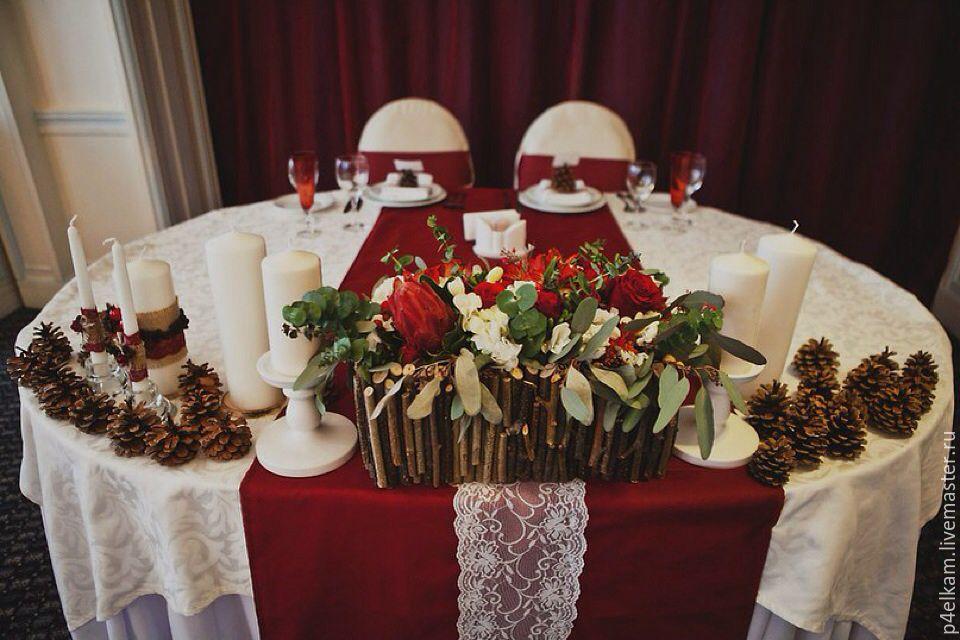 Цвет марсала в свадебном оформлении