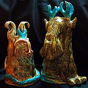 Куклы и игрушки ручной работы. Ярмарка Мастеров - ручная работа Белая Богиня и Рогатый Бог. Handmade.