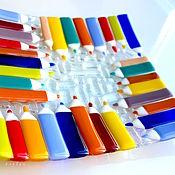 Посуда handmade. Livemaster - original item Fusing, glass plates, Pencils. Handmade.