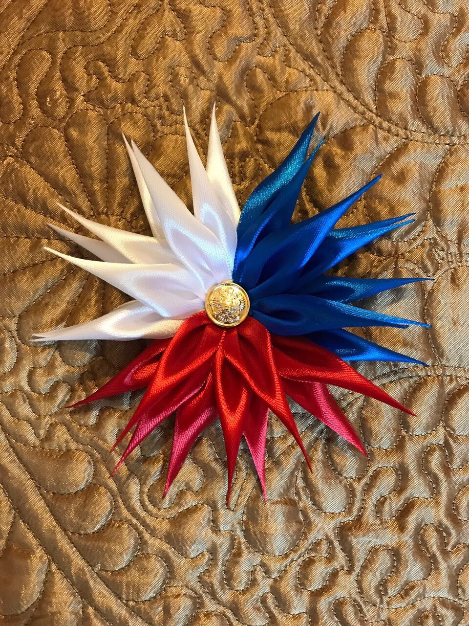 Brooch tricolor for Russian fans, Brooches, Moscow,  Фото №1