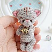 Куклы и игрушки handmade. Livemaster - original item Gray cat and Golden fish. Handmade.