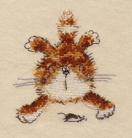 Вышитая картина Кошки-мышки