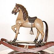Винтаж ручной работы. Ярмарка Мастеров - ручная работа Лошадка деревянная Жеребёнок лошадка качалка трансформер в конюшне. Handmade.