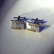 Украшения handmade. Livemaster - original item Platinum cufflinks.. Handmade.