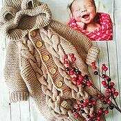 """Комбинезоны ручной работы. Ярмарка Мастеров - ручная работа Вязаный комбинезон """"Мишка"""" для малыша. Handmade."""