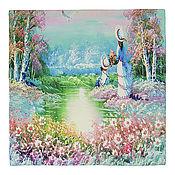 Материалы для творчества handmade. Livemaster - original item The handkerchief of silk. 90 by 90 cm. Fotoprint