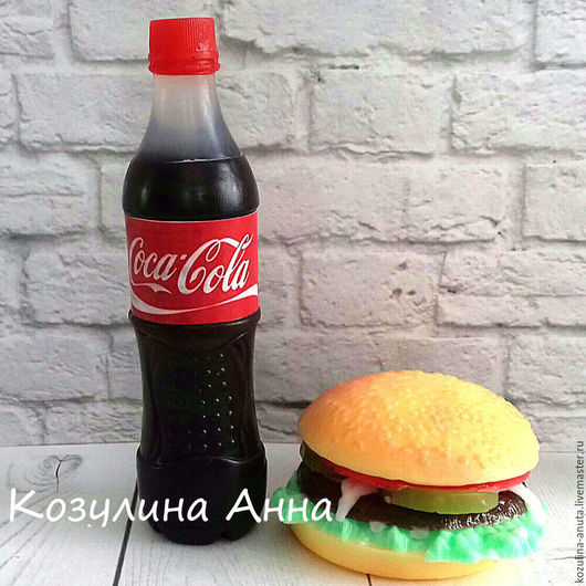 мыло гамбургер,мыло кока,кока-кола,мыло кока-кола,мыло фастфуд,гамбургер,фастфуд