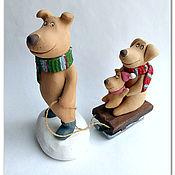 Подарки к праздникам handmade. Livemaster - original item Winter fun. Ceramics, the year of the dog.. Handmade.